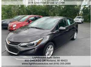 2016 CHEVROLET CRUZE LT 4 DOOR