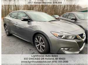 2017 NISSAN MAXIMA SL W/ NAVIGATION, PANORAMIC MOONROOF